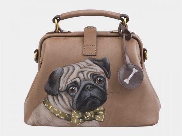Неповторимая бежевая сумка с росписью ATS-2561