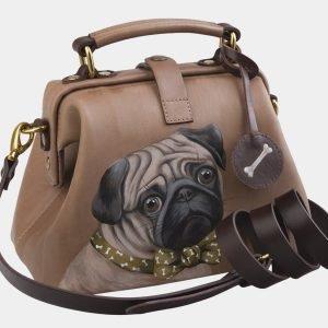 Неповторимая бежевая сумка с росписью ATS-2561 214929