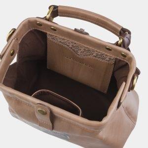 Неповторимая бежевая сумка с росписью ATS-2561 214931