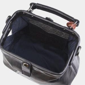 Уникальная черная сумка с росписью ATS-2562 214926