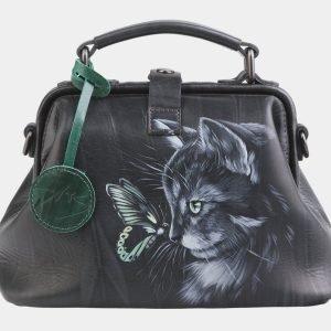 Удобная серая сумка с росписью ATS-2563