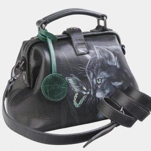 Удобная серая сумка с росписью ATS-2563 214919