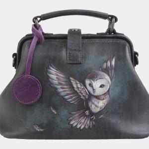 Солидная серая сумка с росписью ATS-2564