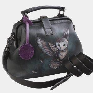 Солидная серая сумка с росписью ATS-2564 214914
