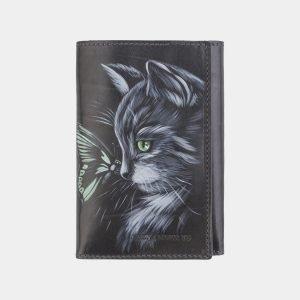 Уникальный серый аксессуар с росписью ATS-2554
