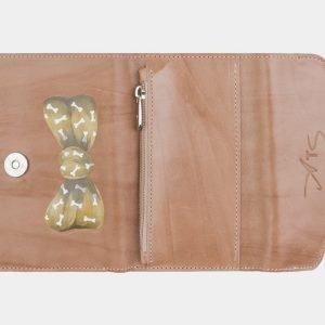 Кожаный бежевый аксессуар с росписью ATS-2555 214944