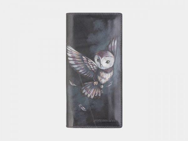 Удобный серый портмоне с росписью ATS-2572