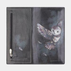 Удобный серый портмоне с росписью ATS-2572 214886