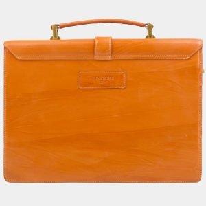Солидный оранжевый портфель с росписью ATS-2577 214868