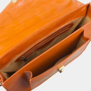 Солидный оранжевый портфель с росписью ATS-2577 214869