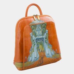Уникальный оранжевый рюкзак с росписью ATS-2575 214877