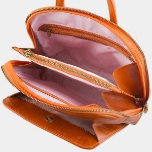 Уникальный оранжевый рюкзак с росписью ATS-2575 214879