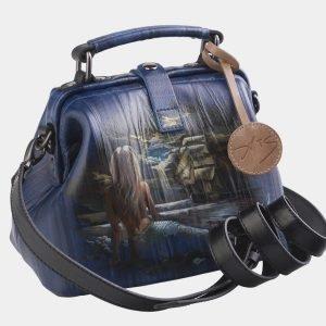 Модная синяя сумка с росписью ATS-2578 214862