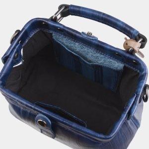 Модная синяя сумка с росписью ATS-2578 214864
