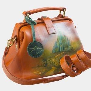 Солидная оранжевая сумка с росписью ATS-2579 214857