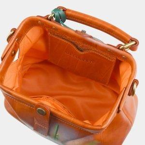 Солидная оранжевая сумка с росписью ATS-2579 214859