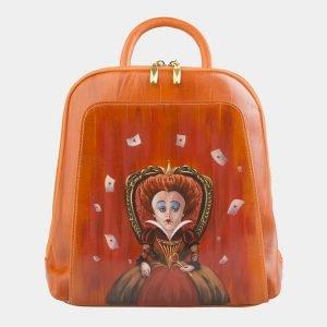 Солидный оранжевый рюкзак с росписью ATS-2576
