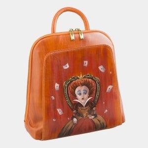 Солидный оранжевый рюкзак с росписью ATS-2576 214872