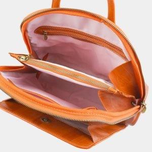 Солидный оранжевый рюкзак с росписью ATS-2576 214874