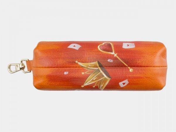 Функциональный оранжевый аксессуар с росписью ATS-2566