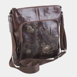 Удобный коричневый портфель с росписью ATS-2609 214744