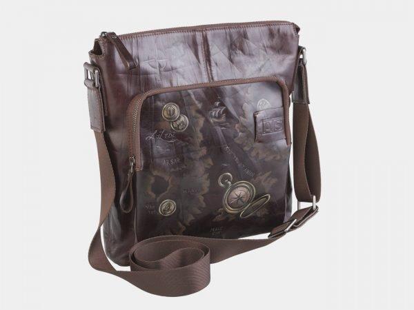 Стильный коричневый портфель с росписью ATS-2609