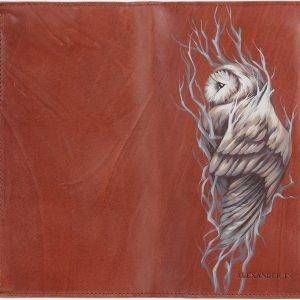 Модный светло-коричневый портмоне с росписью ATS-2028 215964