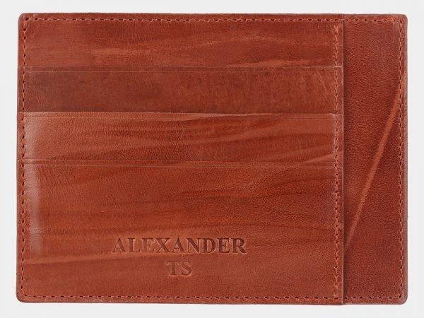 Кожаная светло-коричневая визитница ATS-2006
