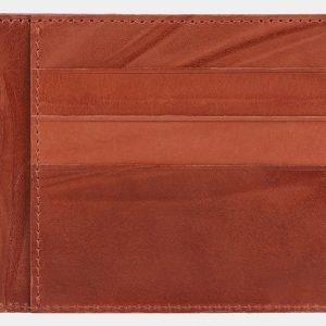 Кожаная светло-коричневая визитница ATS-2006 216008
