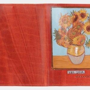 Кожаный оранжевый аксессуар с росписью ATS-2029 215961