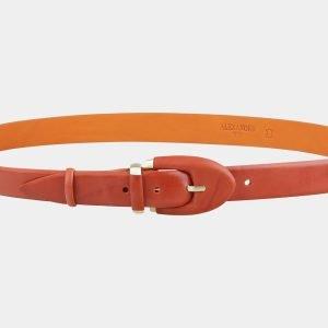 Стильный оранжевый женский модельный ремень ATS-2016