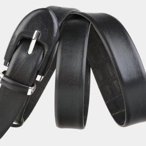 Кожаный черный женский модельный ремень ATS-2025 215976