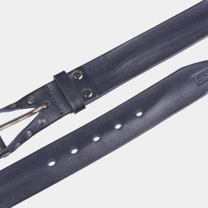 Кожаный серый мужской джинсовый ремень ATS-2637 214664