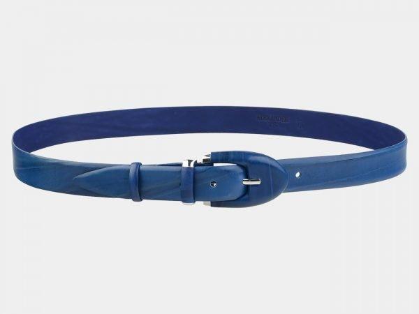 Солидный голубовато-синий женский модельный ремень ATS-2070