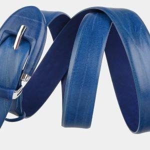 Солидный голубовато-синий женский модельный ремень ATS-2070 215885