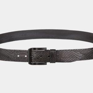 Стильный черный мужской джинсовый ремень ATS-809