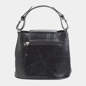 Стильная черная сумка с росписью ATS-2621 214719