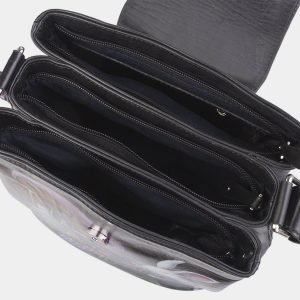 Уникальная черная сумка с росписью ATS-2622 214715