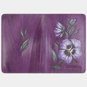 Солидный фиолетовый аксессуар с росписью ATS-2649 214628