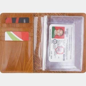 Кожаная светло-жёлтая обложка для паспорта ATS-2543 214964