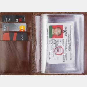 Деловая светло-коричневая обложка для паспорта ATS-2215 215646