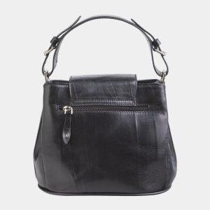 Функциональная черная сумка с росписью ATS-2623 214709