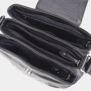 Вместительная черная сумка с росписью ATS-2623 214710