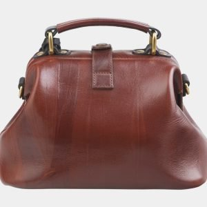 Вместительная светло-коричневая сумка с росписью ATS-2633