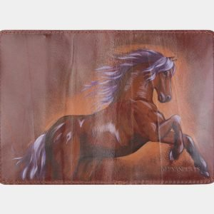 Солидный светло-коричневый аксессуар с росписью ATS-2653 214612