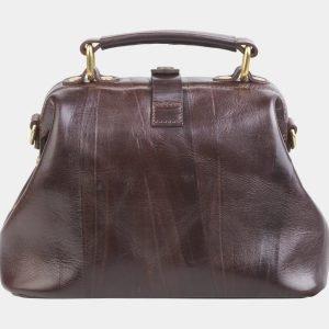 Солидная коричневая сумка с росписью ATS-2682 214565