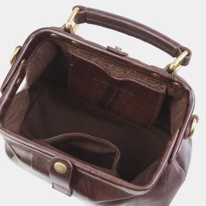 Солидная коричневая сумка с росписью ATS-2682 214566