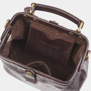 Стильная коричневая сумка с росписью ATS-2683 214561