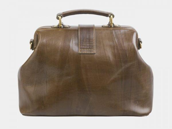 Вместительная желтовато-зелёная сумка с росписью ATS-2684