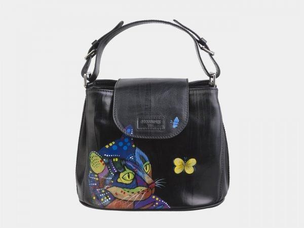 Уникальная черная сумка с росписью ATS-2688